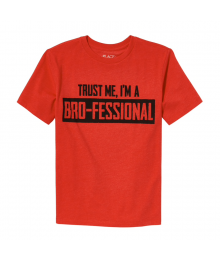 Childrens Place Red Trust Me Im A Brofessional Tee  Little Boy