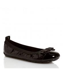 nine west black patent wt bow ballet girls shoes