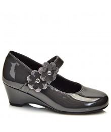 rachel gray patent wedge heel girls shoes