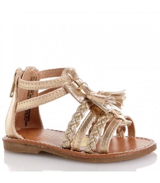 seychelles gold glaidator girls sandal