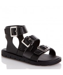 rachel black smooth girls sandals