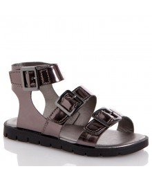 rachel gray pewter metallic girls sandals