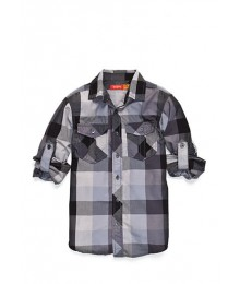 red camel grey/black plaid l/s shirt