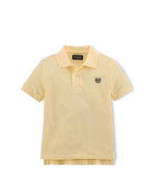 chaps yellow solid pique polo