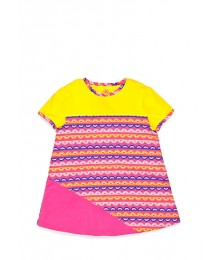 j khaki yellow/pink striped print tee