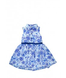 nanette blue floral chiffon skirt dress Little Girl