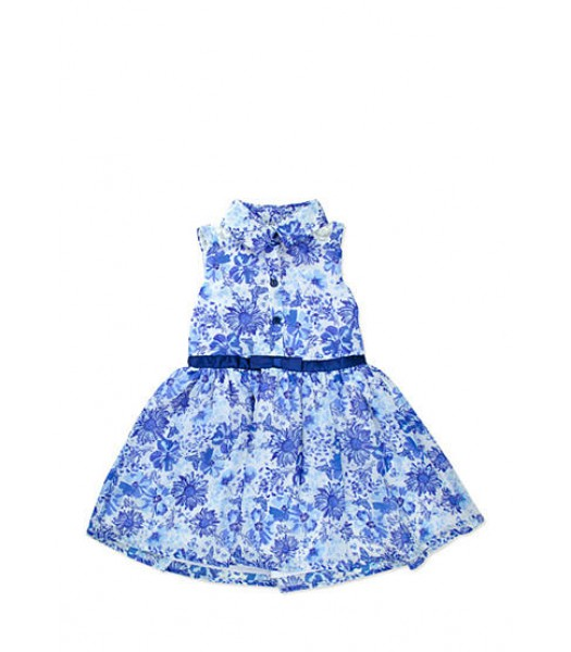 nanette blue floral chiffon skirt dress