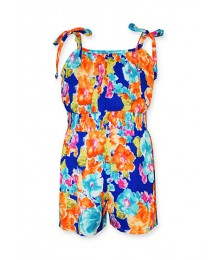 bonnie jean multi floral sleeveless romper dres