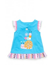 nursery rhyme blue(turquoise)snail ruffle top