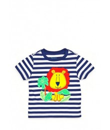 nursery rhyme blue/white orange/lion tee  Baby Boy