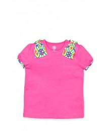 j khaki pink adire shoulder tee