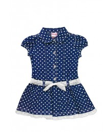 nanette blue denim heart dress wt white bow