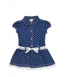 nanette blue denim heart dress wt white bow