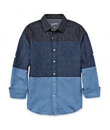 arizona dark blue/light blue indigo reg l/s shirt