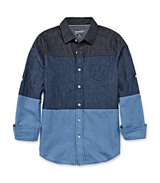 arizona dark blue/light blue indigo reg l/s shirt