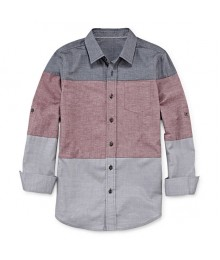 arizona grey/red/ light grey l/s husky shirt