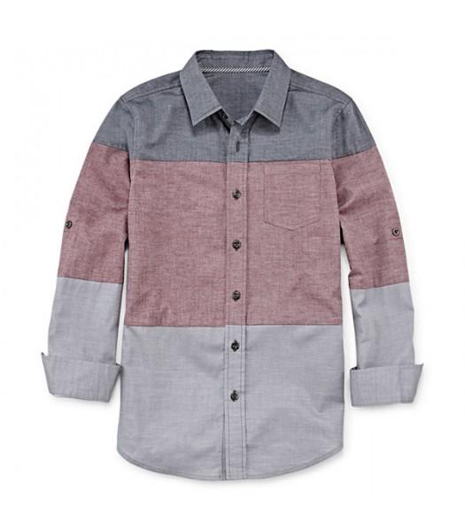 arizona grey/red/ light grey l/s husky shirt