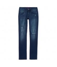 ymi blue distressed skinny jeans