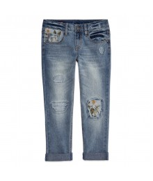 arizona daisy patch distressed jeans  Big Girl