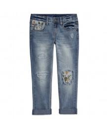 arizona daisy patch distressed jeans