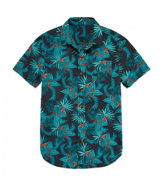 arizona green/grey tropical print shirt husky