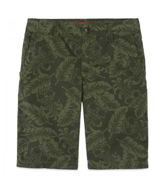 arizona green shorts with pineapple print
