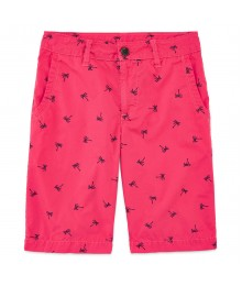 arizona coral palm print shorts