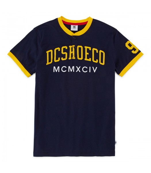 dc shoes co navy henleys boys tees