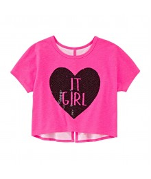 total girl pink crop top wt black seq love it girl