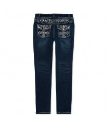 arizona blue embellished back pocket jeans