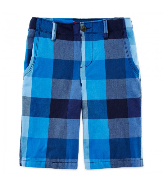 arizona blue/navy big plaid shorts