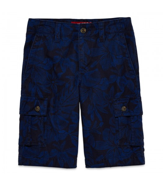arizona blue printed husky cargo shorts