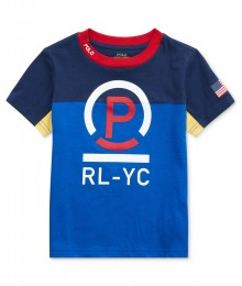 Polo Ralph Lauren Blue Cotton Jersey T-Shirt Little Boy