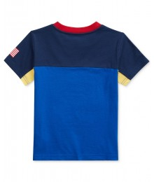 Polo Ralph Lauren Blue Cotton Jersey T-Shirt.