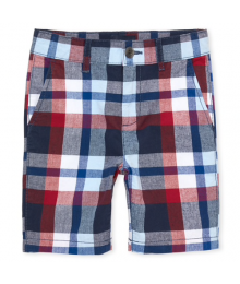 Childrens Place Red/Blue/White Multi Check Shorts  Little Boy