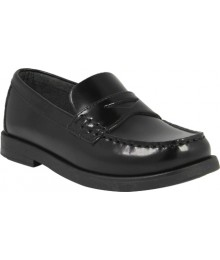 Florsheim Black Patent Croquet Penny Jr Loafers