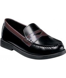 Florsheim Black & Brown Croquet Penny Jr Loafers