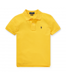 Polo Ralph Lauren Yellow Slim Fit Cotton Mesh Polo