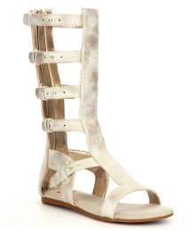 Gb Girls Gold Gladiator Knee Length Sandals