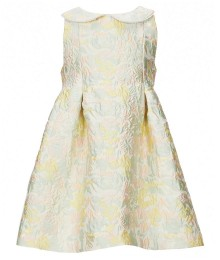 Pippa & Julie Green/Yellow Multi Floral Print Jacquard Dress