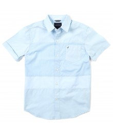 Nautica Light Blue With Chest Stripe S/S Shirt
