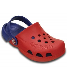 Crocs Red/Blue Electro Clogs