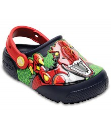Crocs Fun Lab Lights Boys Dinosaur Clogs