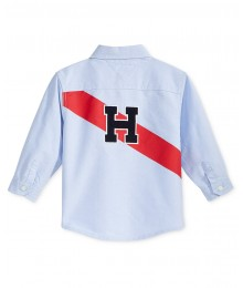 Tommy Hilfiger Blue L/S Flag Shirt