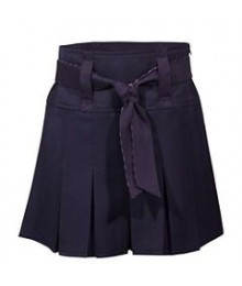 Us Polo Assn Navy Scooter/Pleated Girls Skirt With Pink Belt