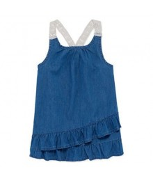 Arizona Blue Chambray/Jeans Like Tank Top  Little Girl