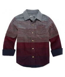 Arizona Grey With Red Stripe L/S Shirt  Little Boy