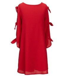 Gb Girls Red Bow-Sleeve Dress - Medium  Little Girl