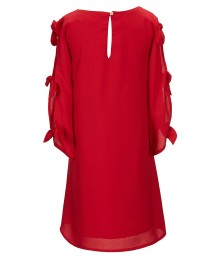 Gb Girls Red Bow-Sleeve Dress - Medium