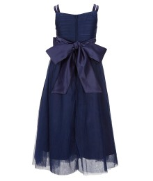 Chantilly Place Blue Bow Sash Mesh Dress